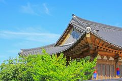Korea Traditional Folk House Stock Photography