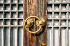 Free Korea Traditional Wooden Door Royalty Free Stock Photo - 111532165