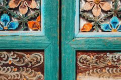 Korea traditional wooden wall. Korea old traditional wooden wall Royalty Free Stock Images