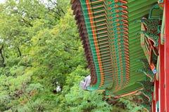 Korea traditionellt arkitekturtak royaltyfri bild