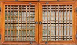 Korea traditionellt fönster Arkivbilder