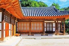 Korea traditionellt Folkhus Royaltyfria Bilder