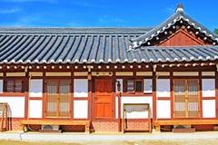 Korea traditionellt Folkhus Royaltyfri Foto