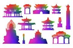 Korea Travel Icon Set. Stock Photo