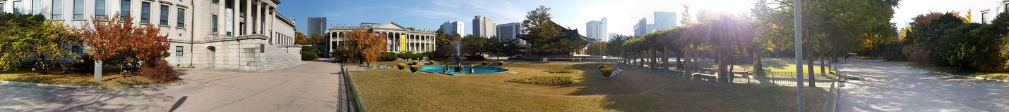 Korea turnerar platsarvet Arkivbilder
