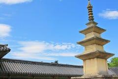 Korea UNESCO światowe dziedzictwo - Bulguksa świątynia zdjęcie stock