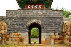 Korea UNESCO światowe dziedzictwo Jest usytuowanym †'Hwaseong forteca Fotografia Royalty Free