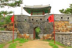 Korea UNESCO światowe dziedzictwo Jest usytuowanym †'Hwaseong forteca zdjęcia royalty free