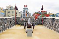 Korea UNESCO światowe dziedzictwo Jest usytuowanym †'Hwaseong forteca Fotografia Stock