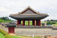 Korea UNESCO światowe dziedzictwo Jest usytuowanym †'Hwaseong forteca Obrazy Stock