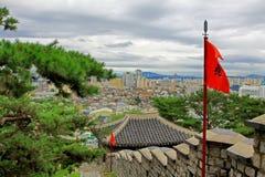 Korea UNESCO światowe dziedzictwo Jest usytuowanym †'Hwaseong forteca i Suwon miasto Obraz Royalty Free