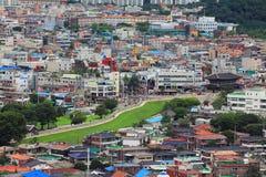 Korea UNESCO światowe dziedzictwo Jest usytuowanym †'Hwaseong forteca i Suwon miasto Zdjęcia Stock