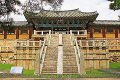 Korea UNESCO World Heritage - Bulguksa Temple. Bulguksa Temple was built in 528 during the Silla Kingdom. Bulguksa Temple is the representative relic of Gyeongju Stock Images