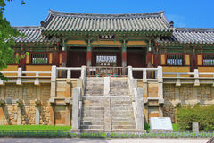 Korea UNESCO World Heritage - Bulguksa Temple. Bulguksa Temple was built in 528 during the Silla Kingdom. Bulguksa Temple is the representative relic of Gyeongju stock images
