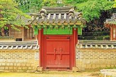 Korea UNESCO World Heritage - Seoul Changdeokgung Palace. Changdeokgung Palace was the second royal villa built following the construction of Gyeongbukgung stock images