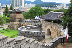 Korea UNESCO World Heritage Sites – Hwaseong Fortress. Suwon is a Korea History City, Hwaseong Fortress UNESCO World Heritage Sites is located in the city stock images