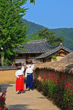 Korea UNESCO World Heritage Sites - Hahoe Folk Village Stock Images