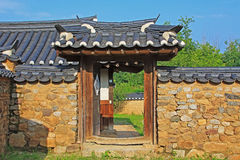 Korea UNESCO World Heritage Sites - Hahoe Folk Village. The UNESCO World Heritage Historic Village of Korea Hahoe royalty free stock photos