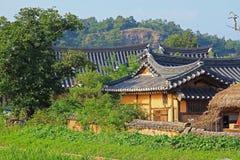 Korea UNESCO World Heritage Sites - Hahoe Folk Village. The UNESCO World Heritage Historic Village of Korea Hahoe stock images
