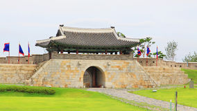 Korea UNESCO World Heritage Sites – Hwaseong Fortress Gate Royalty Free Stock Images