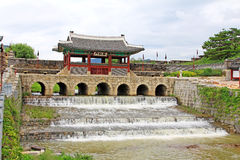 Korea UNESCO World Heritage Sites – Hwaseong Fortress Water Gate Royalty Free Stock Photos