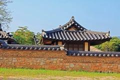 Korea UNESCOvärldsarv - Hahoe Folkby Royaltyfria Foton