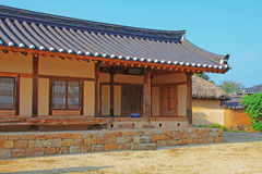 Korea UNESCOvärldsarv - Hahoe Folkby Royaltyfria Bilder