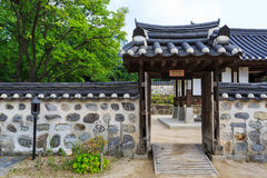 Korea wall and door Stock Images