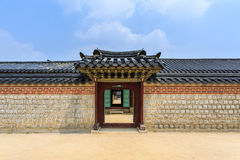 Korea wall and door Royalty Free Stock Images