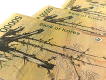 Korea Won Banknotes,print material Royalty Free Stock Photo