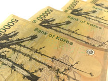 Korea Won Banknotes,print material Royalty Free Stock Photography