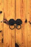 Korea wooden door Royalty Free Stock Photography