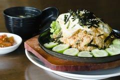 Koreaan vergistte plantaardige gebraden rijst Stock Afbeelding