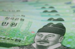Koreaan won Royalty-vrije Stock Fotografie