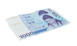 Koreaan won Royalty-vrije Stock Afbeeldingen