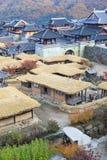 Koreaans architectuurdetail in de stad van Seoel Royalty-vrije Stock Foto