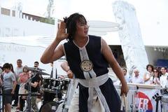 Koreaanse Band in Expo 2015 in Milan Italy royalty-vrije stock foto