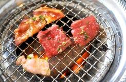 Koreaanse BBQ grill royalty-vrije stock foto