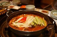 Koreaanse hotpot Royalty-vrije Stock Afbeelding