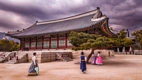Koreaanse koning die ruimte bestuderen Stock Afbeeldingen