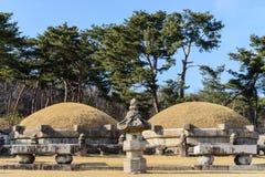 Koreaanse Koninklijke graven stock afbeeldingen