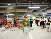 Koreaanse landbouwersdanser Stock Fotografie