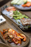 Koreaanse lijst die - kimchi plaatst Royalty-vrije Stock Afbeeldingen
