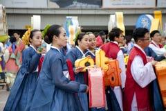 Koreaanse Lotus Lantern Festival Royalty-vrije Stock Afbeeldingen
