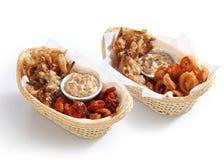 Koreaanse snacks op manden Royalty-vrije Stock Fotografie