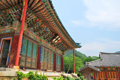 Koreaanse tempelarchitectuur royalty-vrije stock afbeeldingen