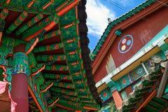 Koreaanse tempeldecoratie royalty-vrije stock afbeelding