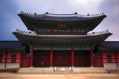 Koreaanse traditionele architectuur Seoel Stock Foto's