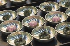 Koreaanse traditionele rijstcake songpyeon Stock Afbeeldingen