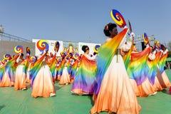 Koreaanse viering voor het festival van de Verlichtingslantaarn Royalty-vrije Stock Afbeeldingen